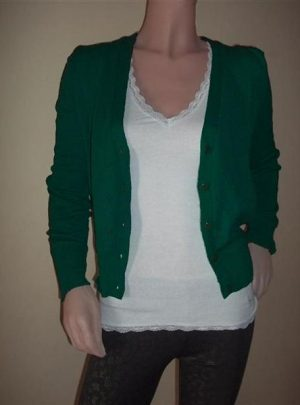 Saquito Sweater De Hilo Y Lycra Color verde