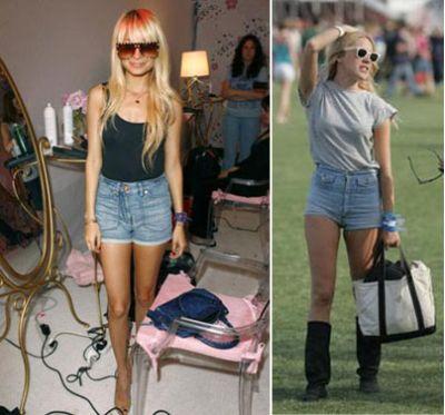 Shorts de Tiro Alto de Jean