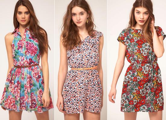 Vestidos floreados cortos 2015