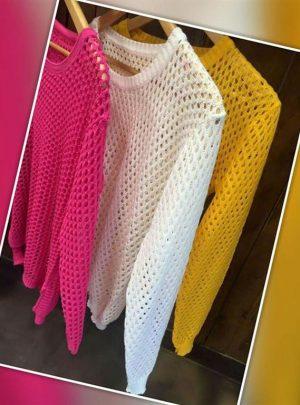 Sweater calado abierto colores