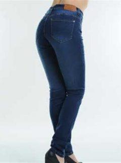 Jean tiro alto azul