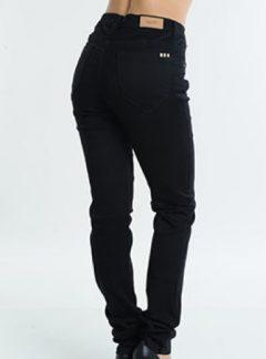 Jean tiro alto negro