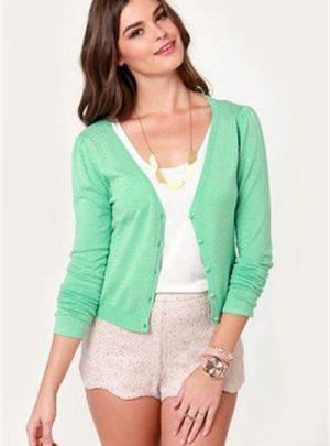 Saco Sweater De Hilo Y Lycra