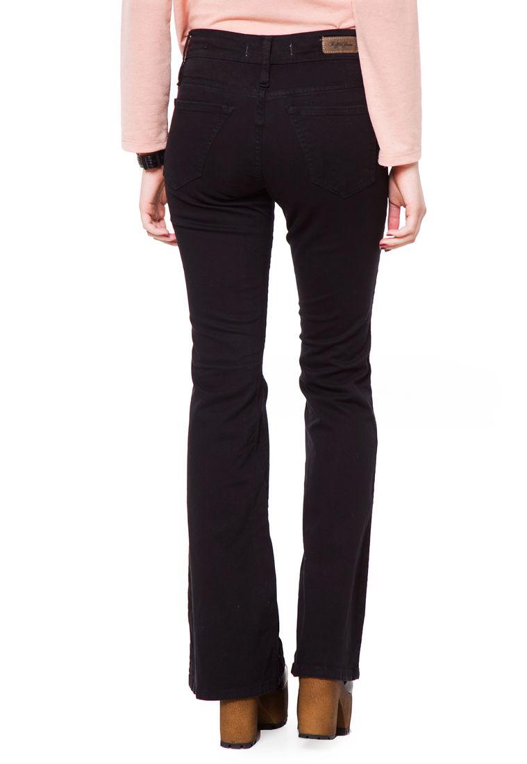 Jean Oxford Negro Tiro Alto Inquieta Am Jeans