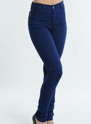Jean mujer chupin azul oscuro tiro alto. Inquieta. CH559