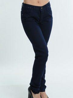 Jean azul marino Tiro alto