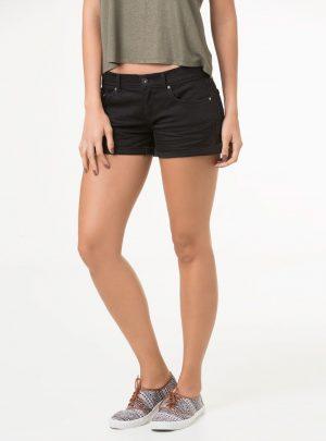 Short de jean negro elastizado. Inquieta. SH165