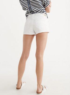 Short de jean blanco elastizado