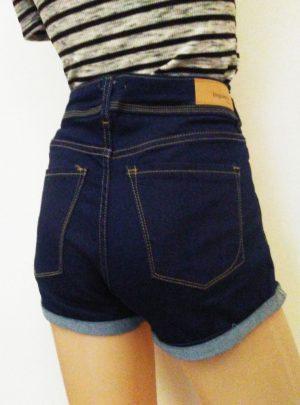 Short de jean azul oscuro Tiro alto. Inquieta. SH180