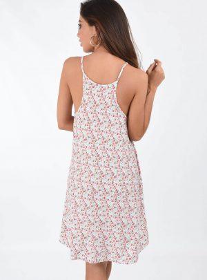 Vestido floreado modal bolsillo