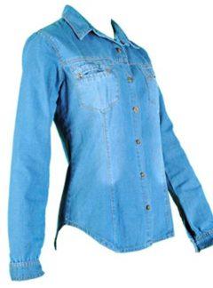 Camisa de jean localizado. Inquieta