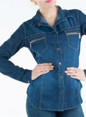 Camisa de jean cierres. Inquieta