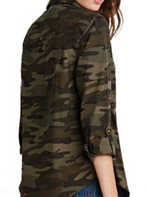 Camisa de gabardina camuflada