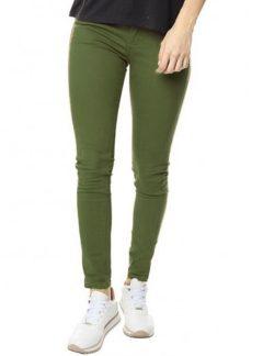 Jean chupin color oliva Tiro alto