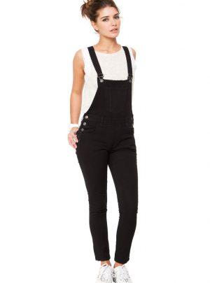 Jardinero de Jean color negro Elastizado Inquieta