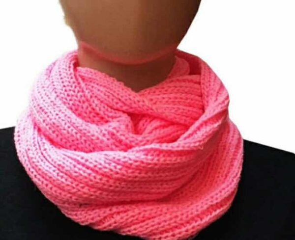 Cuello bufanda infinita tejida. Varios Colores