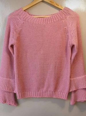 Sweater con doble volado. Varios Colores