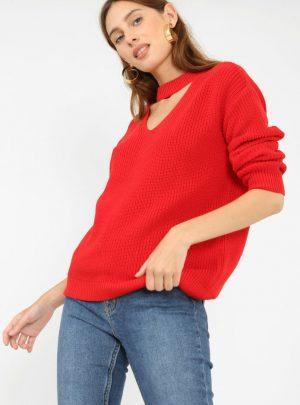Sweater cuello choker