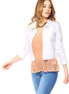 Campera de jean Blanca Inquieta