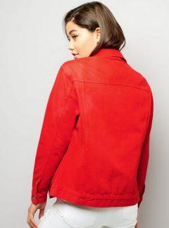 Campera de jean Roja Inquieta