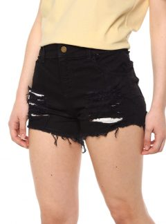 Short de jean mom negro roturas. Inquieta. SH188