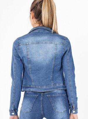 Campera de jean azul localizada Inquieta