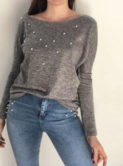 Buzo Sweater lanilla Perlas. Varios colores