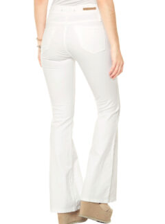Jean Oxford blanco Tiro Alto Inquieta. OX605