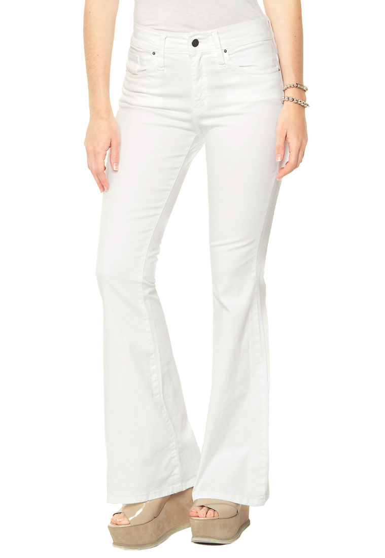 Jean Oxford Blanco Tiro Alto Inquieta Ox605 Am Jeans