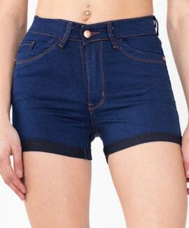 Short de jean azul dobladillo Tiro alto Inquieta. SH43