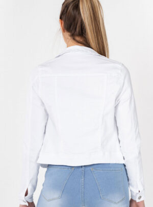 Campera de jean blanca elastizada Inquieta