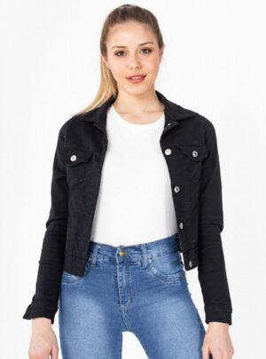 Campera de jean negra elastizada Inquieta