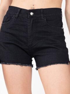 Short de jean negro flecos Inquieta. SH50