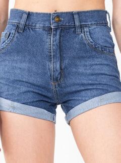 Short de jean azul mom rigido Inquieta. SH51