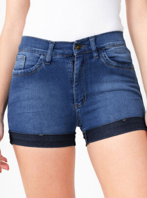 Short de jean azul localizado Inquieta. SH44