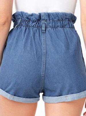 Short de jean retro rigido cintura con elastico Inquieta. SH53