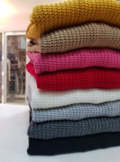 Saco tejido lana con bolsillos