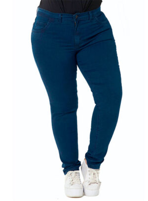 Jean azul oscuro hilo azul Tiro alto Inquieta. Talle 44 al 54. TA12294